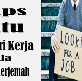 Tips Jitu Mencari Kerja