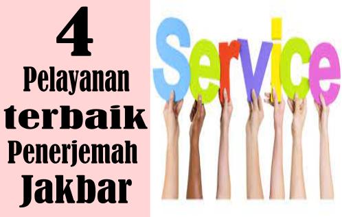empat layanan yang ditawaran Jasa Penerjemah tersumpah Jakarta Barat